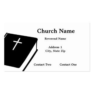 Tarjetas de visita de la biblia de la iglesia