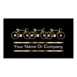 Tarjetas de visita de la bicicleta
