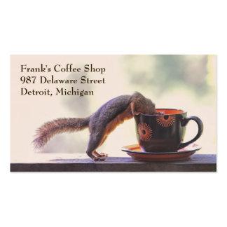 Tarjetas de visita de la cafetería o del café de
