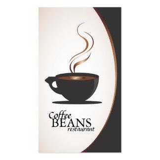 Tarjetas de visita de la cafetería y de la