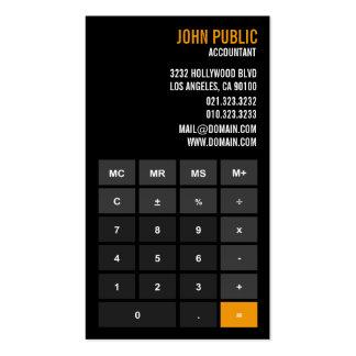Tarjetas de visita de la calculadora del contable