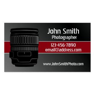 Tarjetas de visita de la cámara de la fotografía
