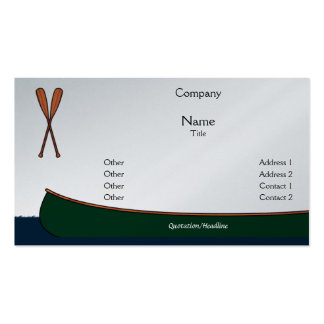 Tarjetas de visita de la canoa