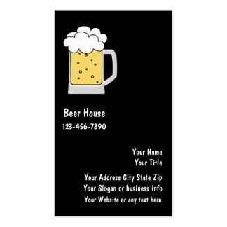 Tarjetas de visita de la cerveza o de la cervecerí
