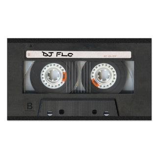 Tarjetas de visita de la cinta de casete para DJ