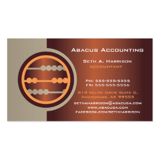 Tarjetas de visita de la contabilidad del ábaco