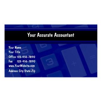 Tarjetas de visita de la contabilidad
