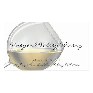 Tarjetas de visita de la copa de vino