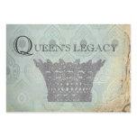 Tarjetas de visita de la corona de la reina