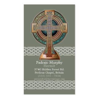 Tarjetas de visita de la cruz céltica