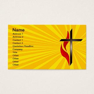 Tarjetas de visita de la cruz y de la llama