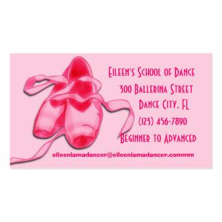 Tarjetas de visita de la danza