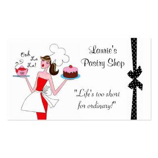 Tarjetas de visita de la diva de los pasteles