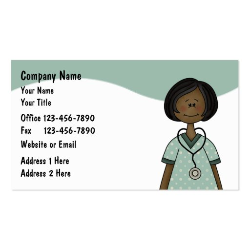 Tarjetas de visita de la enfermera