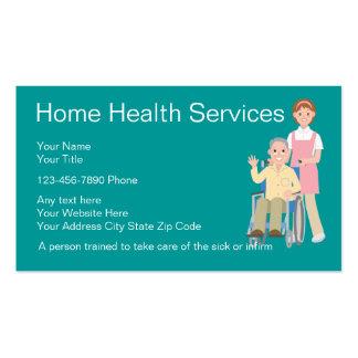 Tarjetas de visita de la enfermera de asistencias