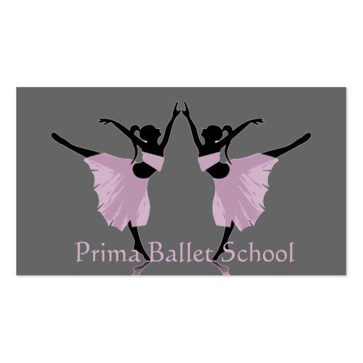 tarjetas de visita de la escuela del ballet o de