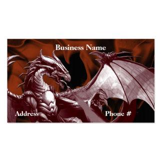 Tarjetas de visita de la fantasía del dragón