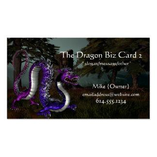 Tarjetas de visita de la fantasía:: Dragón en las