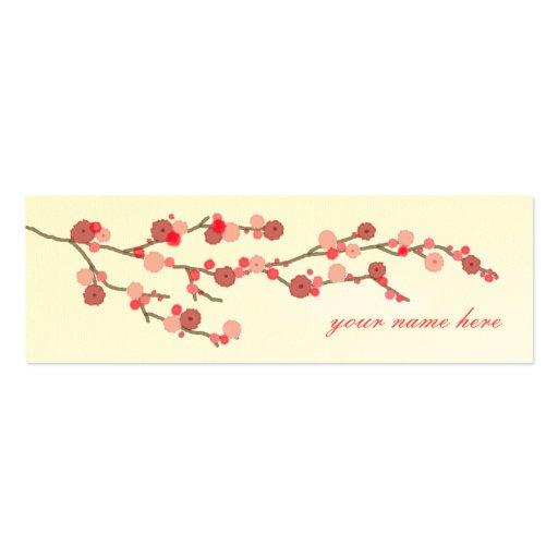 Tarjetas de visita de la flor de cerezo