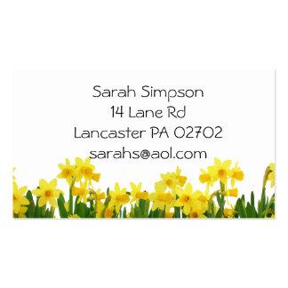 tarjetas de visita de la flor de los narcisos