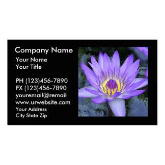 Tarjetas de visita de la flor de Lotus