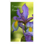 Tarjetas de visita de la flor del iris