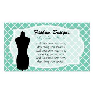 Tarjetas de visita de la forma del vestido
