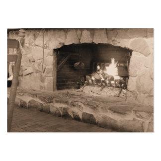 Tarjetas de visita de la foto de la chimenea de la