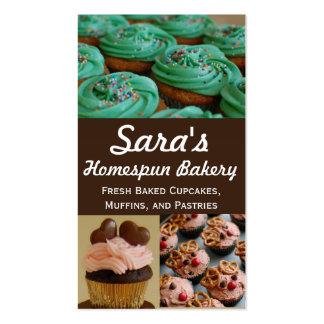 Tarjetas de visita de la foto de la panadería de l