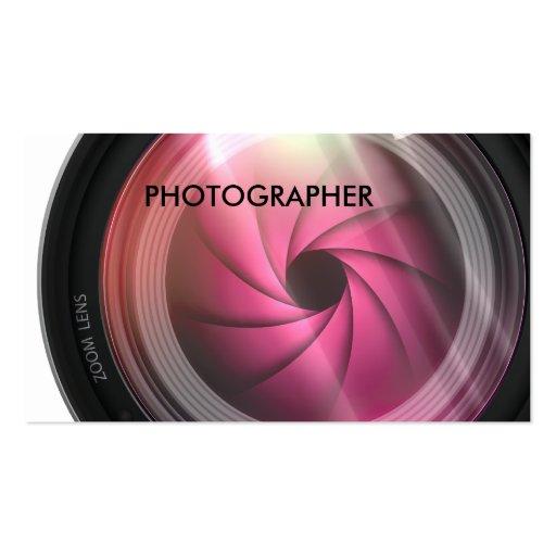 Tarjetas de visita de la fotografía