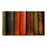 Tarjetas de visita de la fotografía de los libros