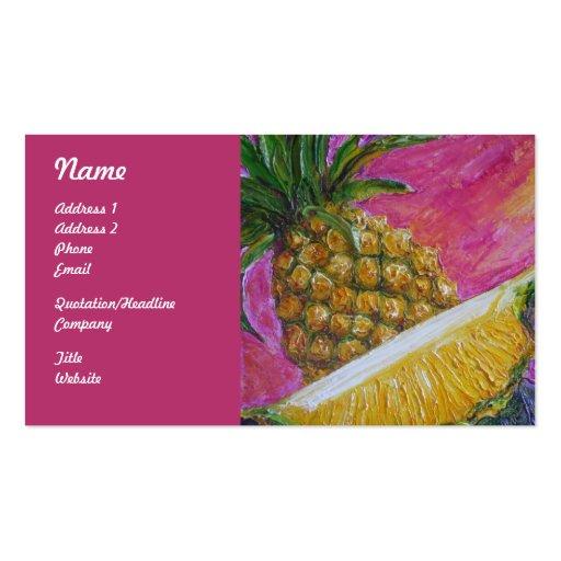Tarjetas de visita de la fruta de la piña