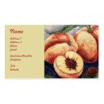 Tarjetas de visita de la fruta de los melocotones