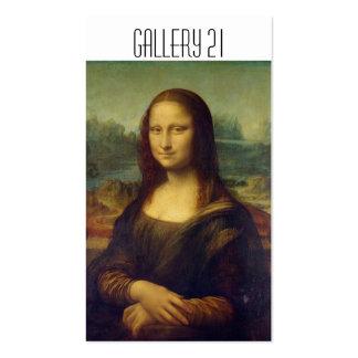 Tarjetas de visita de la galería de arte