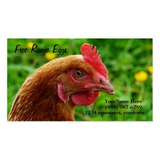 Tarjetas de visita de la gallina del rojo de Rhode