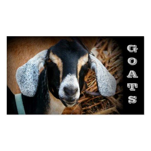 Tarjetas de visita de la granja de la cabra