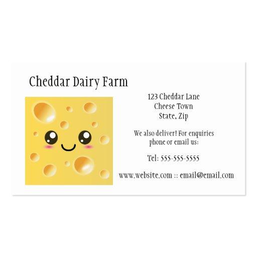 Tarjetas de visita de la granja de la quesería