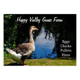 Tarjetas de visita de la granja del pato o del gan