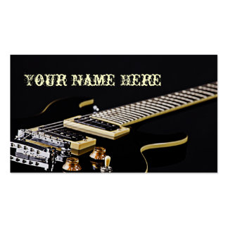 Tarjetas de visita de la guitarra
