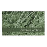 Tarjetas de visita de la hierba verde