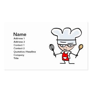 Tarjetas de visita de la hornada - cocinero del di