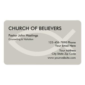 Tarjetas de visita de la iglesia