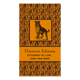 Tarjetas de visita de la impresión del tigre