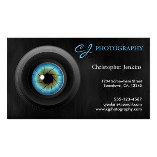 Tarjetas de visita de la lente de cámara del ojo