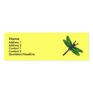 Tarjetas de visita de la libélula de los CF…