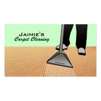 Tarjetas de visita de la limpieza de la alfombra