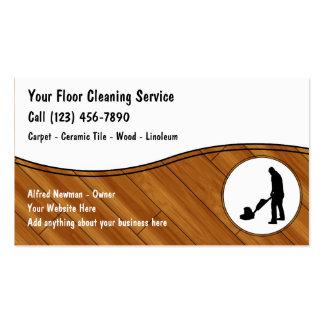 Tarjetas de visita de la limpieza del piso