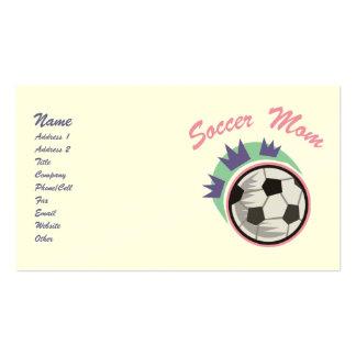 Tarjetas de visita de la mamá del fútbol