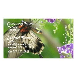 Tarjetas de visita de la mariposa de Swallowtal