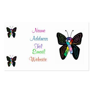Tarjetas de visita de la mariposa del autismo